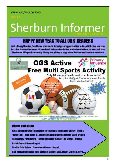 Cover of Sherburn Informer edition 6